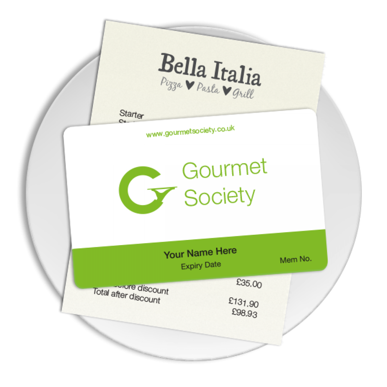 Gourmet Society Card