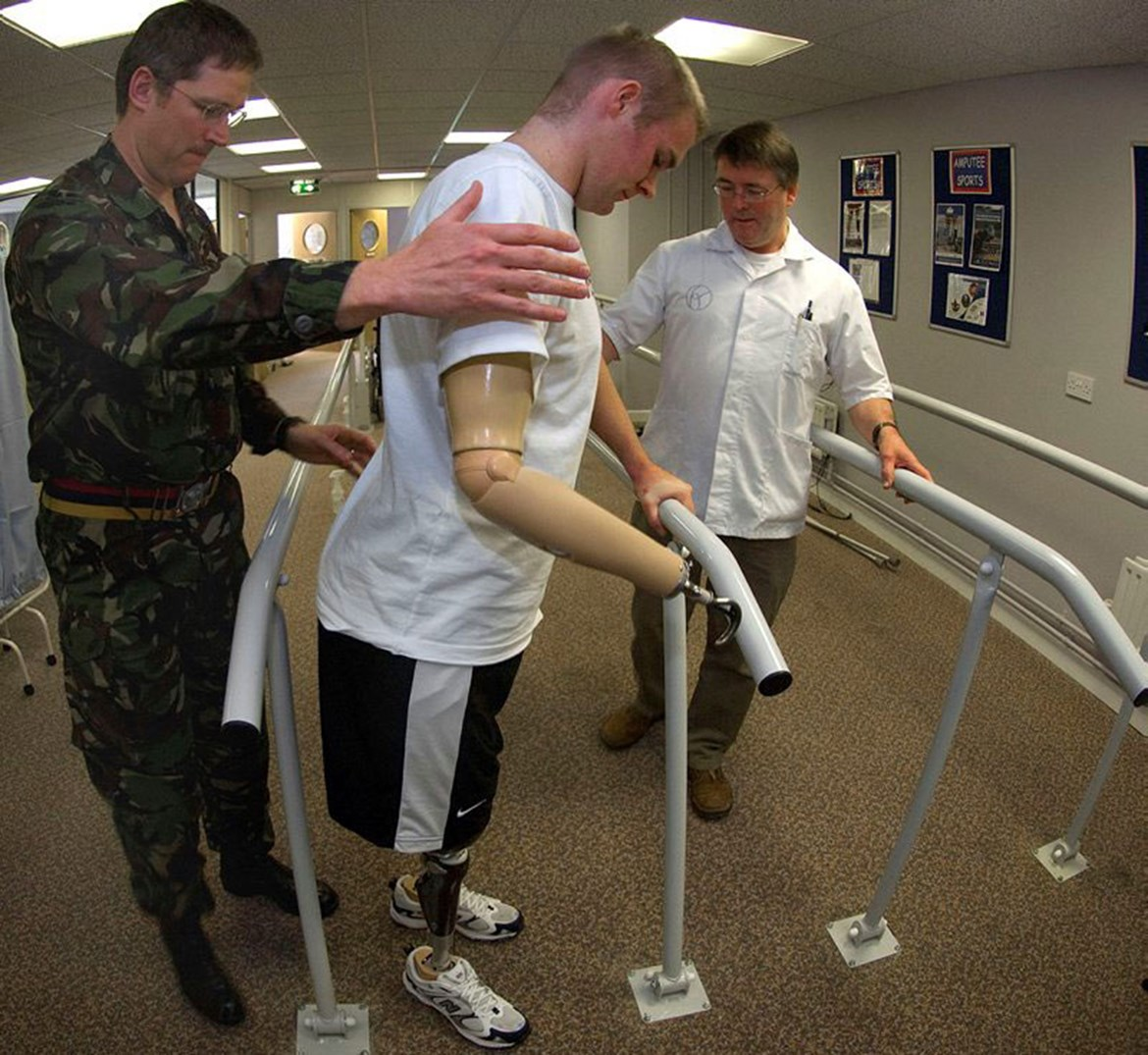 Veteran in physical therapy