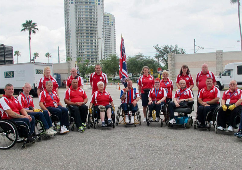 group of people in wheelchairs