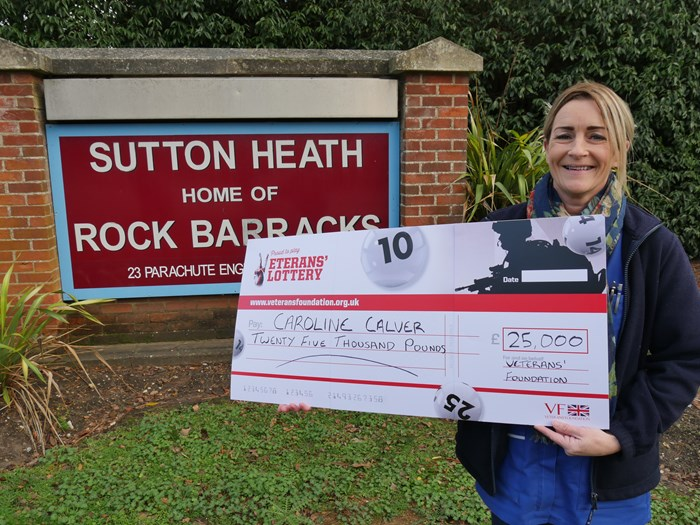 Army nurse Caroline won £25,000!