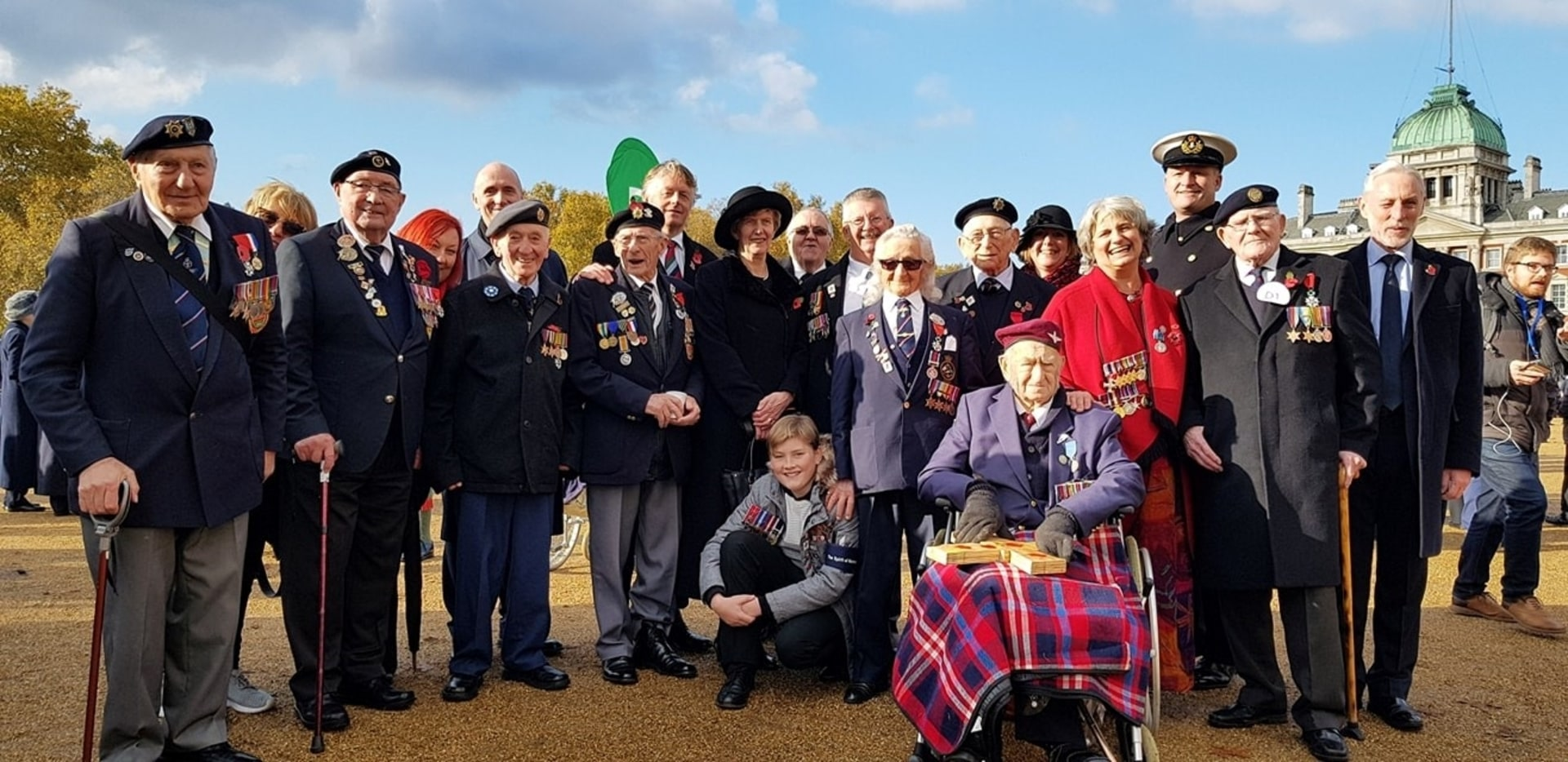 Group of veterans with families